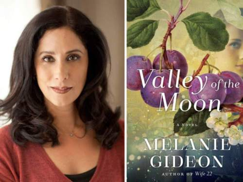 Author Melanie Gideon and her latest book, Valley of the Moon