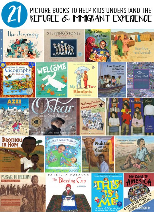 Picture books about refugees and immigrants, a list by the Friends of Montclair Library