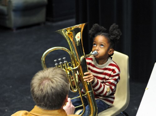 Instrument petting zoo photo by Eddie Welker via Flickr