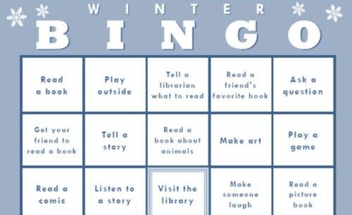 Winter Bingo at Oakland Public Library
