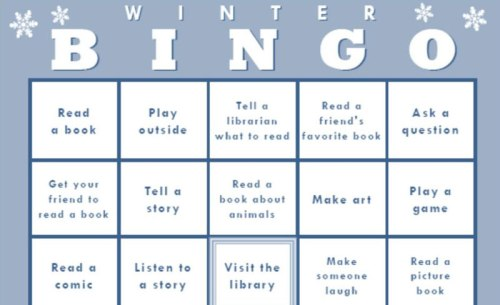 Winter Bingo at Oakland Public Library