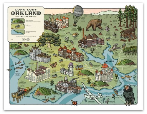 Long Lost Oakland map by Liam O'Donoghue
