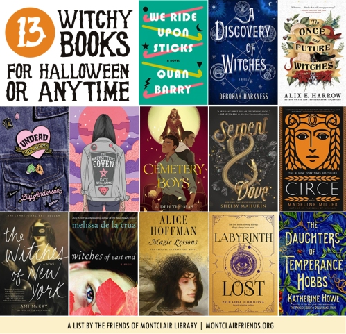 Witchy novels, a list by the Friends of Montclair Library