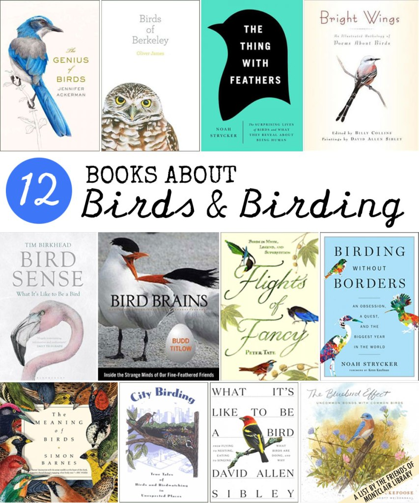 Bird books for grown-ups, a list from the Friends of Montclair Library